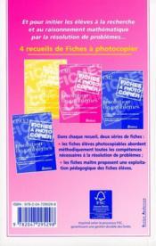 Problèmes de maths ; CM1 ; fichier photocopiable - 4ème de couverture - Format classique