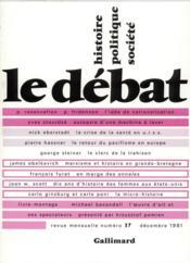 Revue Le Débat N.17 - Couverture - Format classique