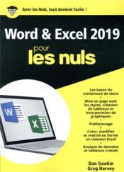 Word et Excel pour les nuls (édition 2019) - Couverture - Format classique