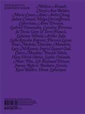 Initiales N.13 ; Joséphine Baker - 4ème de couverture - Format classique