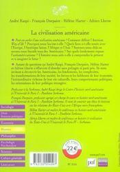 La civilisation americaine (2e édition) - 4ème de couverture - Format classique