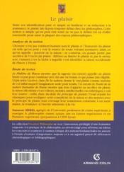 Le plaisir ; analyse de la notion, étude de textes ; Platon, Lucrèce, Hume, Freud - Couverture - Format classique
