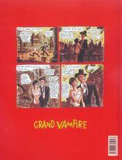 Grand vampire t.6 ; le peuple est un golem - 4ème de couverture - Format classique