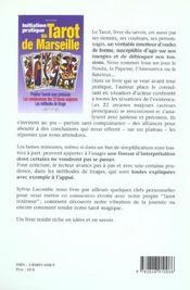 Initiation pratique au tarot de marseille - 4ème de couverture - Format classique