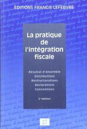 La pratique de l'integration fiscale - Intérieur - Format classique
