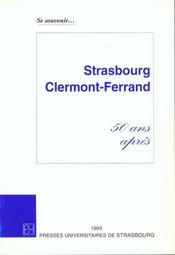 Se souvenir . strasbourg - clermont-ferrand. 50 ans apres - Intérieur - Format classique