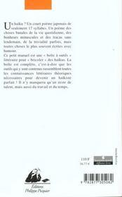 Petit Manuel Pour Ecrire Des Haikus - 4ème de couverture - Format classique