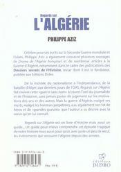 Regards sur l'algerie - 4ème de couverture - Format classique