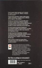 Noir chirac - 4ème de couverture - Format classique