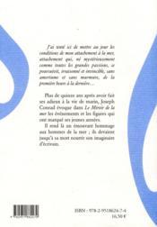 Le miroir de la mer - 4ème de couverture - Format classique