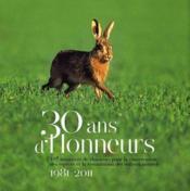 30 ans d'honneurs - Couverture - Format classique