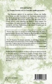 En Guyane ; le nommé Perreux ; nouvelles antillo-guyanaises - 4ème de couverture - Format classique