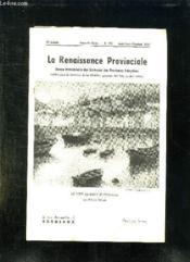 La Renaissance Provinciale N° 115 Aout Septembre Octobre 1956. Le Port De Saint Jean De Luz... - Couverture - Format classique