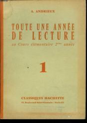 Toute Une Annee De Lecture Au Cours Elementaire 2eme Annee N°1 - Couverture - Format classique