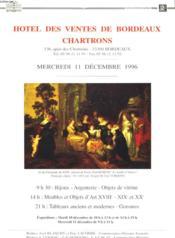Hotel De Ventes De Bordeaux Chartrons ( Lot D'Environ 80 Catalogues) - Couverture - Format classique