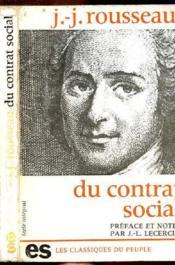 Du Contrat Social- Collection Les Classiques Du Peuple - Couverture - Format classique