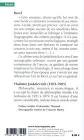 Ravel - 4ème de couverture - Format classique