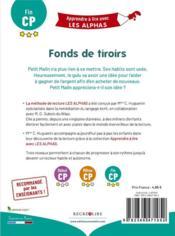 Apprendre à lire avec les Alphas ; fonds de tiroirs - 4ème de couverture - Format classique