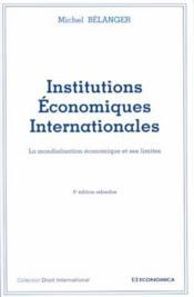 Institutions economiques internationales - Couverture - Format classique
