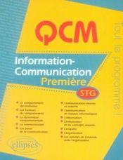 Information communication ; première stg - Intérieur - Format classique