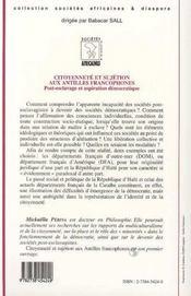 Citoyenneté et sujétion aux Antilles francophones - 4ème de couverture - Format classique