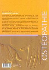 Manipulations Viscerales T.1 (2e édition) - 4ème de couverture - Format classique