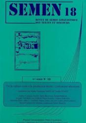 Semen N.18 ; De La Culture Orale A La Production Ecrite : Littératures Africaines - Couverture - Format classique