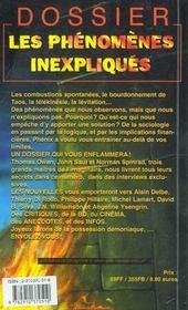 Les Phenomenes Inexpliques - 4ème de couverture - Format classique