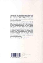 La vengeance du traducteur - 4ème de couverture - Format classique