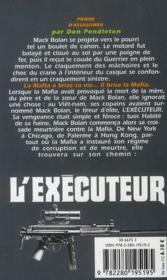 L'exécuteur t.269 ; prière d'assassiner - 4ème de couverture - Format classique