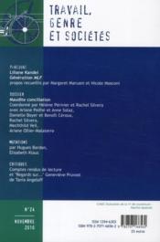TRAVAIL, GENRE ET SOCIETES N.24 ; maudite conciliation ; entretiens avec Liliane Kandel, génération MLF - 4ème de couverture - Format classique