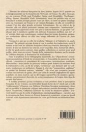 Les éditions françaises de Jane Austen 1815-2007 ; l'apport de l'histoire éditoriale à la compréhension de la réception de l'auteur en France - 4ème de couverture - Format classique