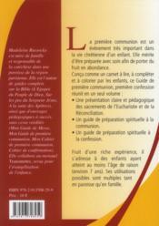 Mon Guide De Premiere Communion, Premiere Confession - 4ème de couverture - Format classique