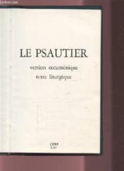 Psautier - version oecumenique texte liturgique broche - Couverture - Format classique
