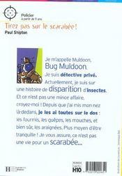 Tirez pas sur le scarabée - 4ème de couverture - Format classique