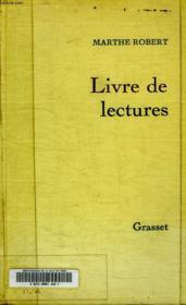 Livre De Lectures. - Couverture - Format classique