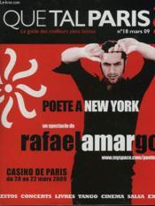 Que Tal Paris ? Le Guide Des Meilleurs Plans Latinos. N°18, Mars 2009 - Couverture - Format classique