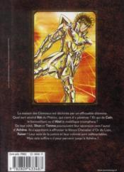 Saint Seiya - next dimension ; le mythe d'Hadès T.6 - 4ème de couverture - Format classique