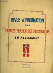Revue D'Information Des Troupes Francaises D'Occupation En Allemagne - Numero 37 - Couverture - Format classique