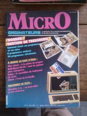 MICRO ORDINATEURS N° 20 le mensuel de la micro-informatique et de ses utilisations - Couverture - Format classique