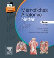 Mémo-fiches ; anatomie Netter ; tronc (4e édition) - Couverture - Format classique