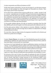 Oser parrainer ? un défi à relever pour la pérennité de la franc-maçonnerie - 4ème de couverture - Format classique