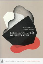 Les historicites de nietzsche - Couverture - Format classique