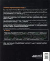 Exercices en langage C++ (4e édition) - 4ème de couverture - Format classique