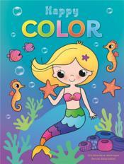 Happy color ; sirène - Couverture - Format classique