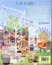 Je joue au jardin ; cahier de jeux et activités en plein air - 4ème de couverture - Format classique