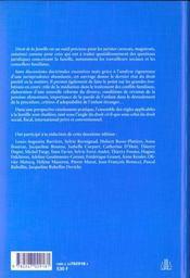 Droit De La Famille ; 2e Edition - 4ème de couverture - Format classique