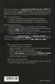 Initiation Et Auto-Formation A La Programmation Informatique - 4ème de couverture - Format classique