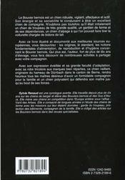 Bouvier Bernois - 4ème de couverture - Format classique