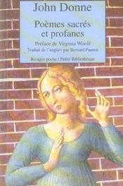 Poemes Sacres Et Profanes - Intérieur - Format classique
